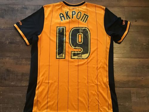 2015 2016 Hull City Akpom Home Football Shirt Large